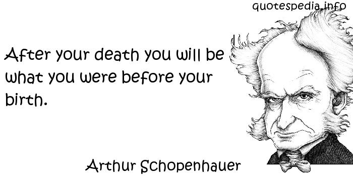 Arthur Schopenhauer - After your death you will be what you were before your birth.